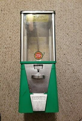 Oak Acorn 25 Cent Gumball Vending Machine Bubble Gum Chewing or Candy