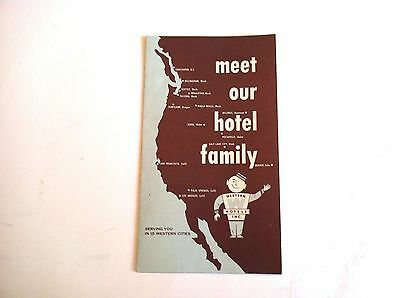 """1950's  WESTERN HOTELS INC. """" MEET OUR HOTEL FAMILY """" DIRECTORY"""