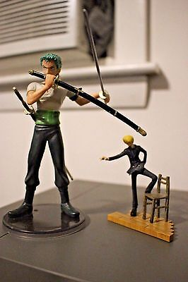 One Piece BANDAI Feeling Roronoa Zoro Sanji Figurines Lot of 2 Mini Figure RARE
