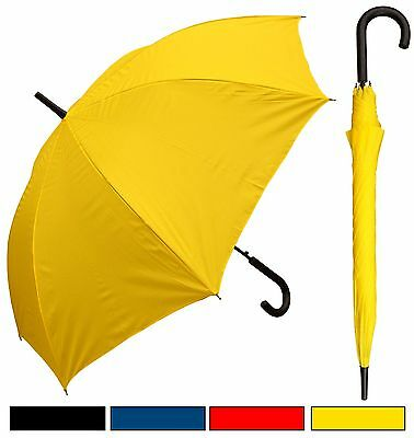 "48"" Doorman, Black Handle Umbrella - RainStoppers, Rain/Sun UV, Fashion, Travel"