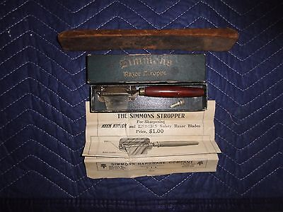 Vintage The Simmons Razor Stroppe Original Box and Instructions Keen Kutter