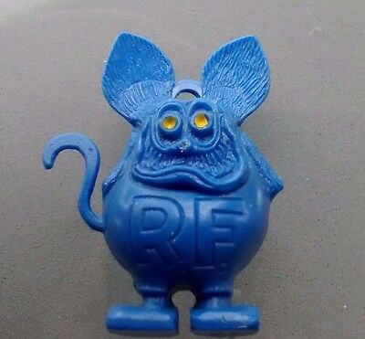 BLUE RAT FINK Charm with Yellow Eyes - 1960s Ed Roth Original