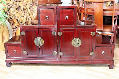 Solid Asian Rosewood Step Tansu