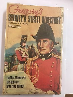 Gregory's 36th Edition Sydney Street Directory 1971