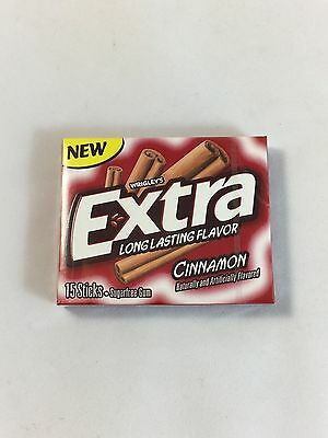 Wrigleys USA Extra Long Lasting Flavour Bubble Gum Cinnamon 15 sticks x 5