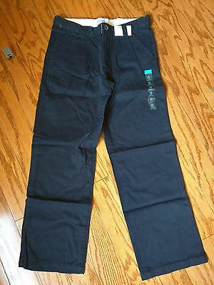 The Children's Place Uniform Pants SZ 8 New Navy Basic Pleated Chino New