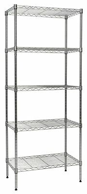 Apollo Hardware Chrome 5-Shelf Wire Shelving 14''x24''x60'' (Chrome)