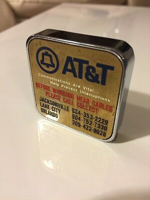 Vintage Barlow Tape Measure AT&T American Telephone Telegraph Florida Bell Sys