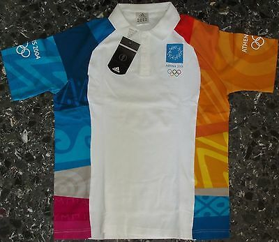 Authentic Olympic Volunteers Shirt Athens 2004 Adidas Large Greece