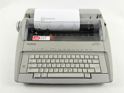 Brother GX-6750 Electronic Typewriter Tested and Working Correction Not working