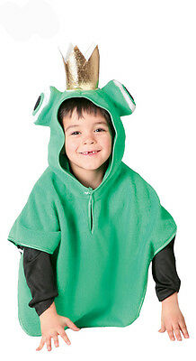 Kids Frog Costume Fairy Tale Boys Girls Fancy Dress Frog Prince Outfit Age 3-6