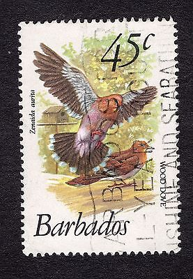 1979 Barbados 45c Wood dove SG632 GOOD USED R31178