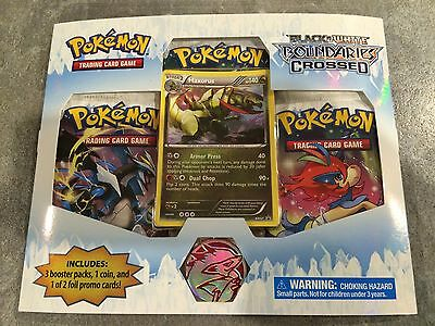 Boundaries Crossed 3-Pack Blister Booster Pokemon Cards Haxorus RETRO RARE