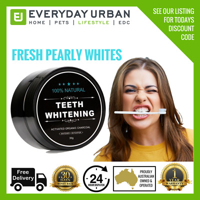 NEW Teeth Whitening Activated Charcoal Powder Natural Organic Detoxifier White