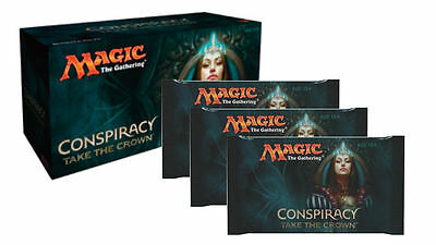 BOOSTER BOX CONSPIRACY TAKE THE CROWN MAGIC THE GATHERING *+ Free Booster Pack*