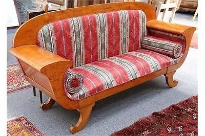 Spectacular Art Deco Design Period Burr Walnut Scroll Arm Sofa/ Settee /couch