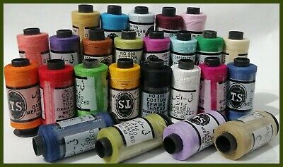 25 x COTTON THREAD SPOOLS FOR SEWING All PURPOSE 100% PURE 25 ASSORTED COLOURS