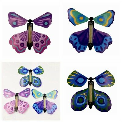 5Pcs Magic Colorful Flying Butterfly Change From Empty Hands Tricks Prop Toy