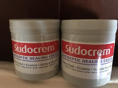 Sudocrem Antiseptic Healing Cream For Acne Nappy Rash Eczema Bed Sore 400g x 2