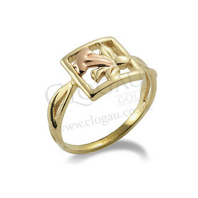 BRAND NEW Official Clogau Gold Yellow & Rose Gold St Davids Daffodil Ring SIZE P