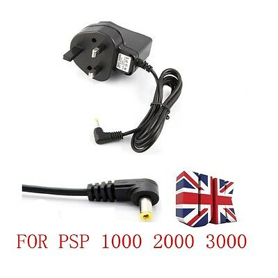 UK MAINS WALL USB CHARGER ADAPTER PLUG FOR SONY PSP 1000 2000 SLIM & LIte 3000