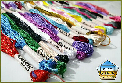 20 X New 100 Original Metallic Hand Embroidery Thread Skeins With