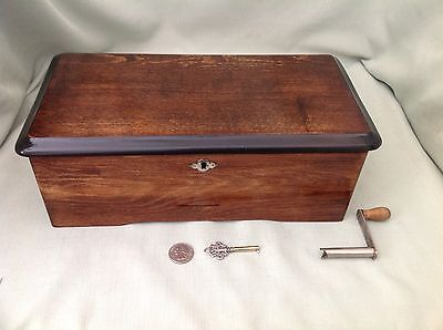 """Cylinder Music Box,""""columbia""""6 Airs,u.s.a.patent Sept. 1894,completely Refurbish"""