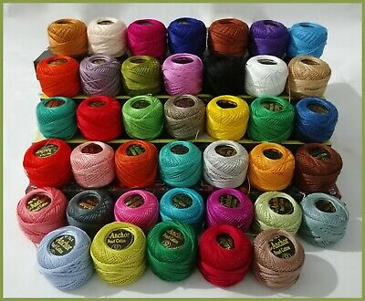 40 Anchor Crochet Cotton Thread Balls Sewing Embroidery Different Colors New