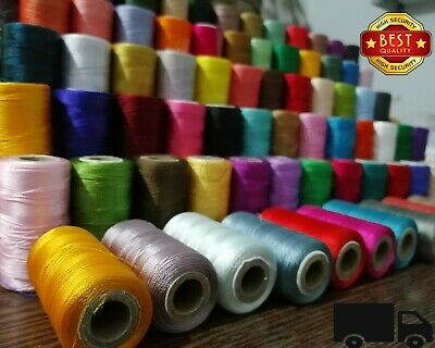 75 Large Art Silk Rayon Sewing Strong Embroidery Threads Spools Assorted Colurs