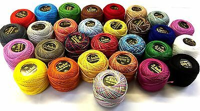 20 Anchor + 10 Variegated Anchor Pearl Cotton Crochet Balls Embroidery Threads