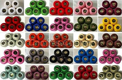 New 5 Anchor Pearl Cotton Crochet Embroidery Thread Balls with all Great Colours