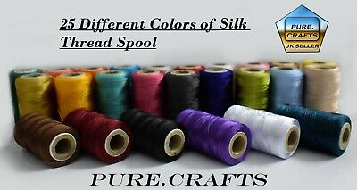 25 Art Silk Rayon Machine Embroidery Thread Spools Assorted Colors Good Quality