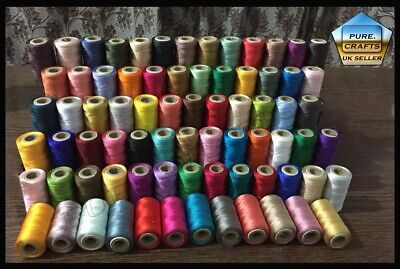 75 Large Art. Silk/ Rayon Embroidery Machine Thread Spools for Brother/Janome UK