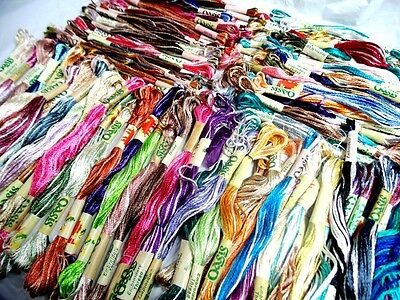 25 x Variegated Oasis Art Silk Rayon Stranded Embroidery Skeins Threads Assorted