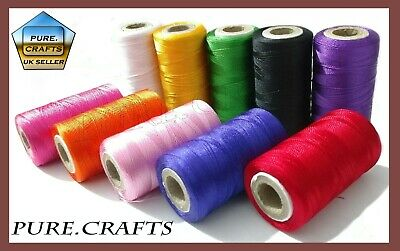 10 Vibrant Spools Sewing Machine Silk Thread embroidery BROTHER JANOME GUTERMAN