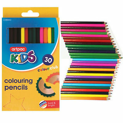 NEW COLOURING PENCIL PACK 30 x LARGE SET FOR SCHOOL CLASS CHILDREN CHEAP PRICE