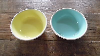 Taylor Smith Taylor TST CHATEAU BUFFET Cereal Bowls Yellow White Blue/Wht  PAIR
