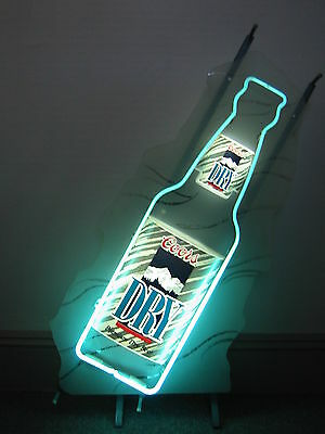 Coors Dry Bottle   Tall      Neon Sign