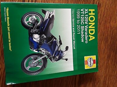 Honda XL125V Varadero VT125C Shadow 1999-2011 Haynes Workshop Manual
