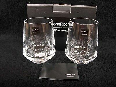 2 Waterford John Rocha Rian Whiskey Tumblers Glass Crystal Glasses New & Boxed