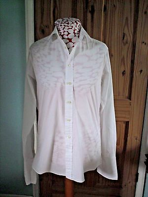 Vintage white double cuff shirt 15 1/2 inch collar from Harvie & Hudson