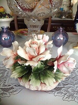 Made In Italy Vintage Capodimonte Rose Piece