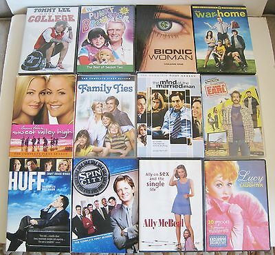 Lot of 12 TV Shows Bionic Woman My Name Is Earl Spin City Family Ties Like New