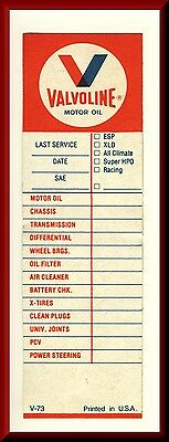Vintage Original Vavoline Motor Oil Service Sticker,Unused With Peel-Off Backing