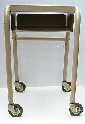 Vintage Typewriter Paper Tray Stand Metal OfficeTable Industrial Age