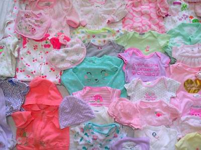 Huge 70 pc Baby Girl Fall clothes lot Newborn 0-6 amazing condition sleepers