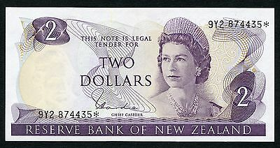 New Zealand 2 Dollars Replacement P-164d UNC Condition !!!