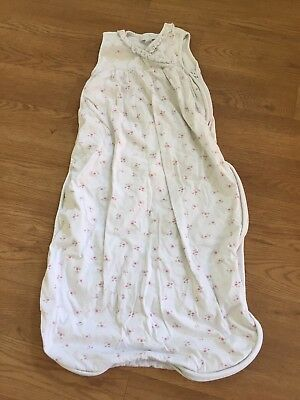 Baby Girls The Little White Company Floral Sleeping Bag 6-18Months 0.5 Tog