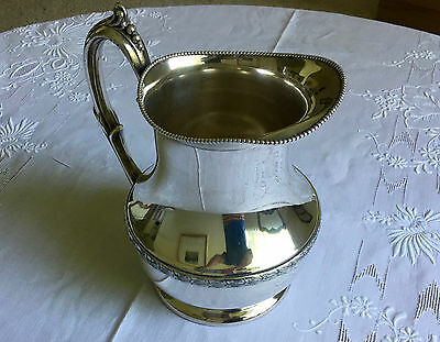 Vintage large silver plated pitcher