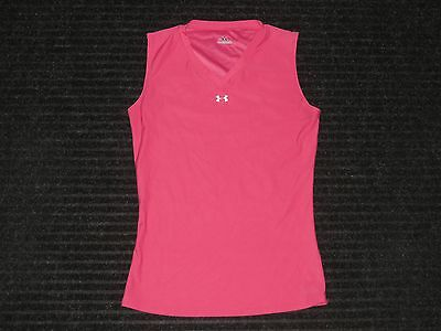 Under Armour Base Layer Compression Sleeveless Tank Top Womens Medium MD Pink